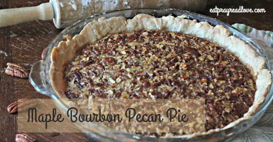 maple bourbon pecan pie FB