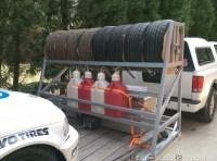 trackdayzone.com - Homebrew Trailer Tire Rack