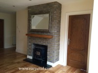 Brick slips for covering fireplaces - Eazyclad Stone Cladding