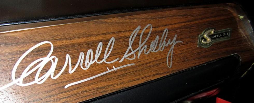 dashboard signed by carroll shelby u2014 ebay motors blog