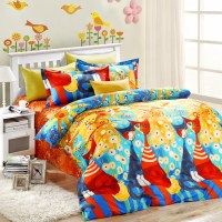 5pcs elegant style colorful cats bedding set | EBeddingSets