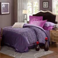 Violet & Purple Floral Print Comforter Sets | EBeddingSets