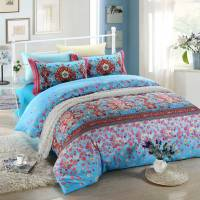 Blue and Pink Floral Bedding Set | EBeddingSets