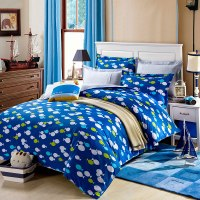 Cool Aqua Cotton Bedding Set | EBeddingSets