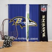 NFL Baltimore Ravens Bedroom Curtain | EBeddingSets