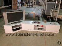 Meuble tv design blanc en angle livr  Bidache au Pays ...