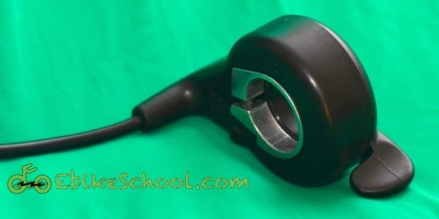 electric bicycle thumb throttle