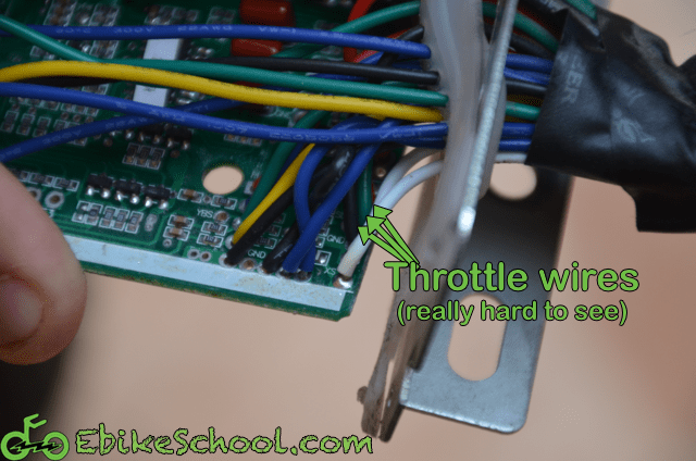 adding cycle analyst connector throttle wires