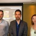 David Luisi, Sebastián Brilli y Melanie Lambert