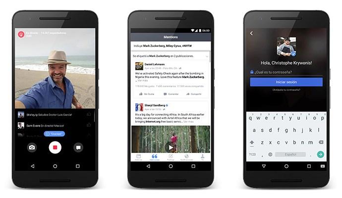 Llegó Facebook Mentions para Android