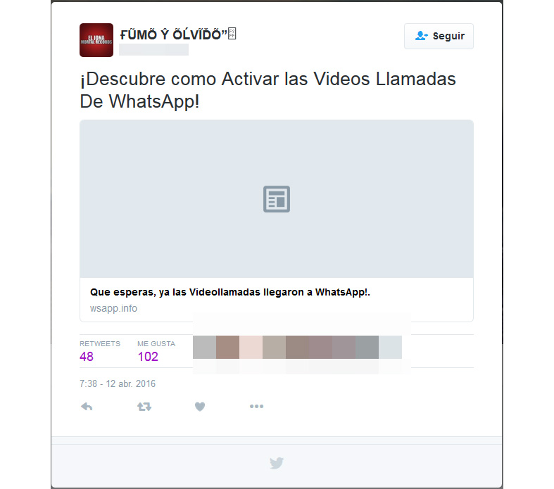 Estafa - Whatsapp Y Twitter 1