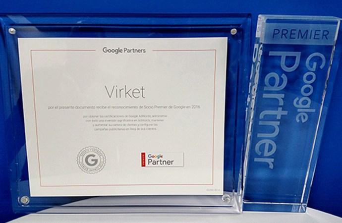 Grupo Virket tiene un nuevo estatus: Socio Premier de Google