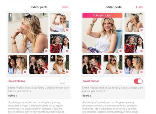 Tinder presenta Smart Photos