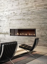 Ultra Wide Gas Fireplace as a Central Feature in a ...