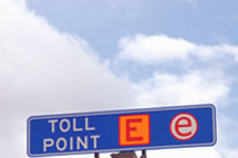 road toll collection point no cash