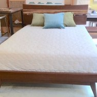 Azara queen sable bamboo platform bed in $1900
