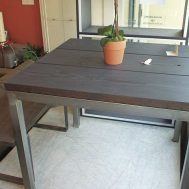 K. Cho solid redwood indoor/outdoor dining table. $699