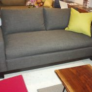 "Soho condo sofa 70"" with 'trillium' seat and back cushions floor model $1499"
