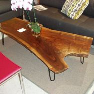 Walnut slab coffee table $1449