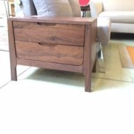 "Cosmo solid walnut nightstand 24""W 16""D x 20""H  $599."