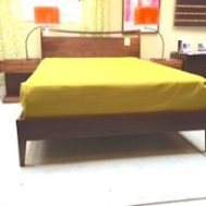 Cosmo queen bed $1595. Solid walnut platform b ed