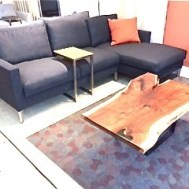 "Slice sectional grey wool 94""W x 58""D  $3900"