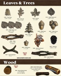 Theme Cabinet Knobs In Acorn, Leaves, Trees, And Wood Log ...