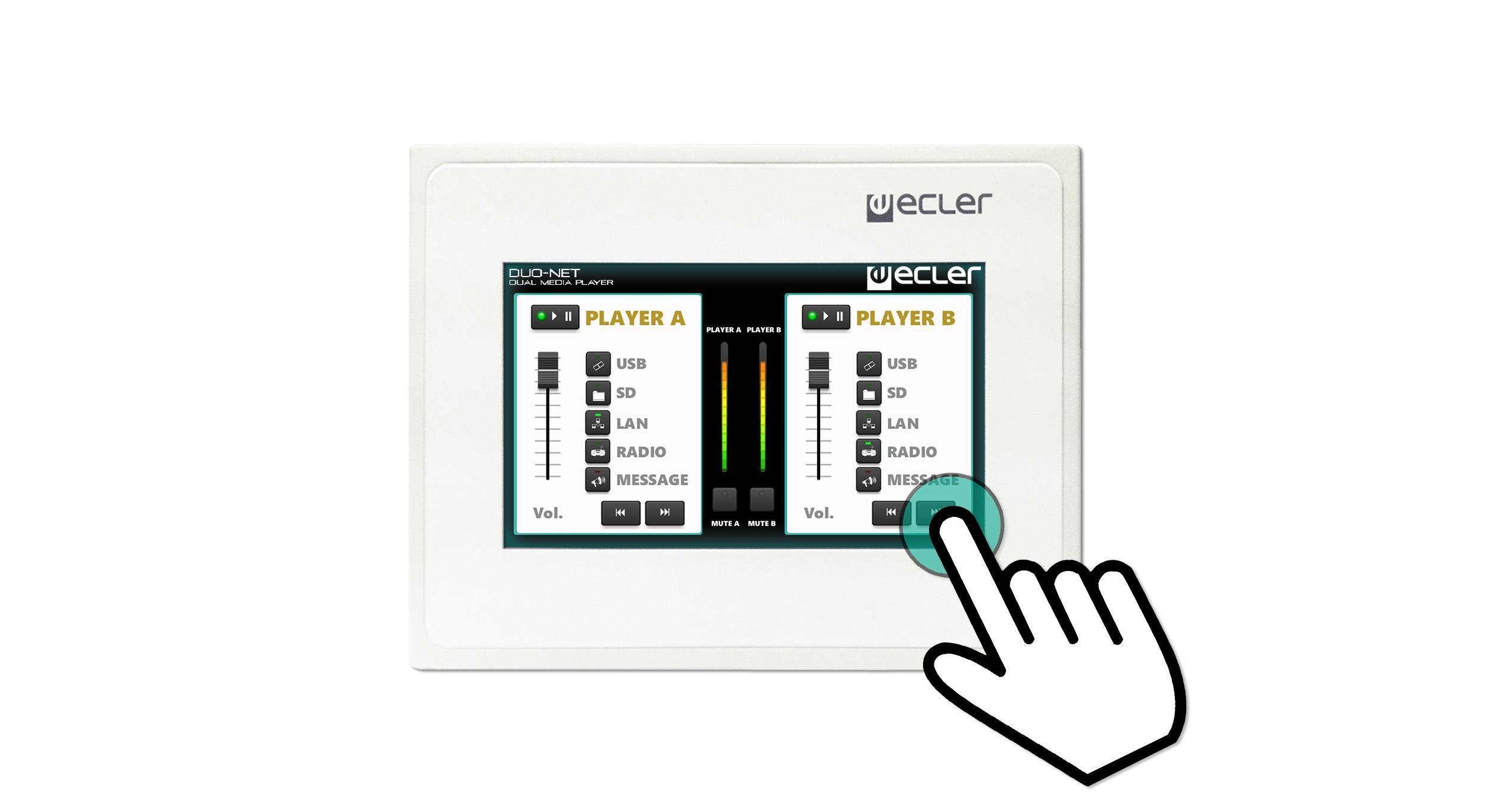 videotechnik touch control panel