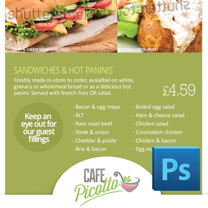 Cafe / Canteen Style Menu Board PSD Template Eclipse Digital Media