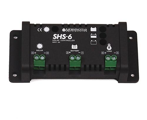 Morningstar SHS-6 - 6 Amp 12 Volt PWM Charge Controller - International