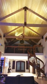 Ultra Warm White LED Strips light up the vaulted ceilings ...