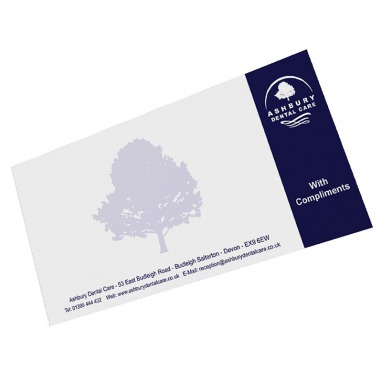 Compliment Slips Full Colour 1 or 2 Sided eColour Print - compliment slip template