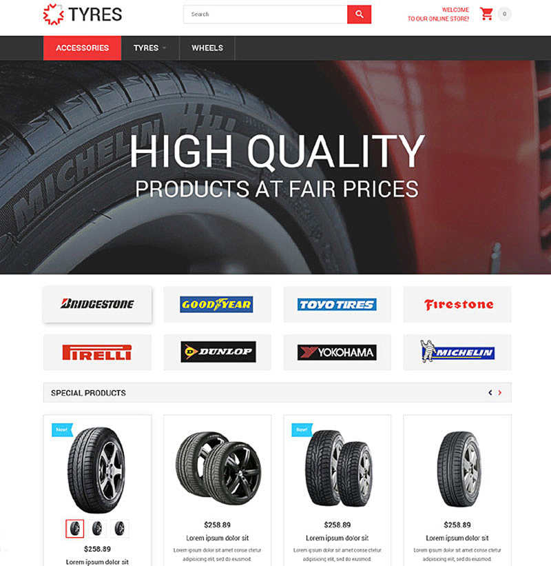 15+ Best Ecommerce Templates for Wheels and Tires Websites