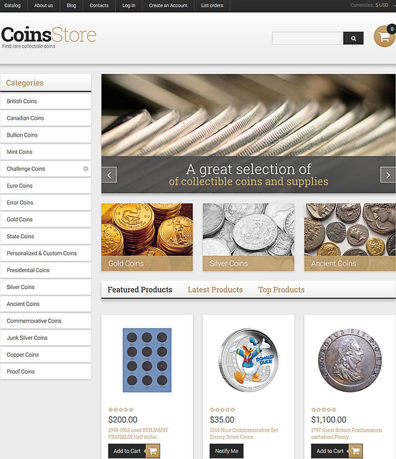 Ecommerce Templates and Themes for Online Antique Store \u2013 2017
