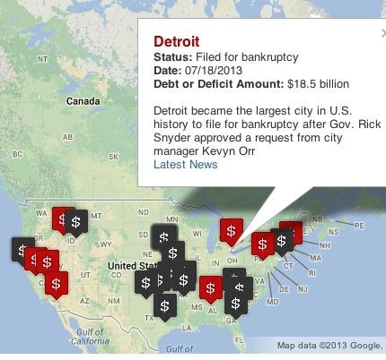 Detroit municipal bankruptcies