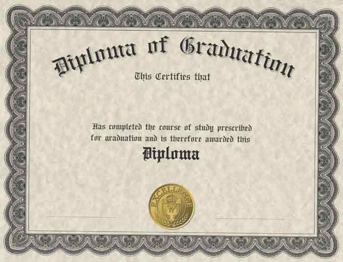 Diploma Cover Printed Diploma - Graduation Certificate Paper