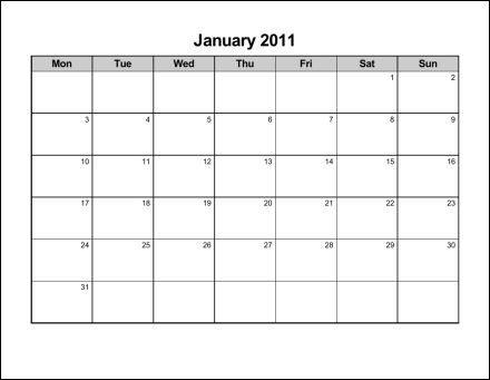 Print 2011 Calendar  Twelve Pages (Monthly)  Ask the eConsultant