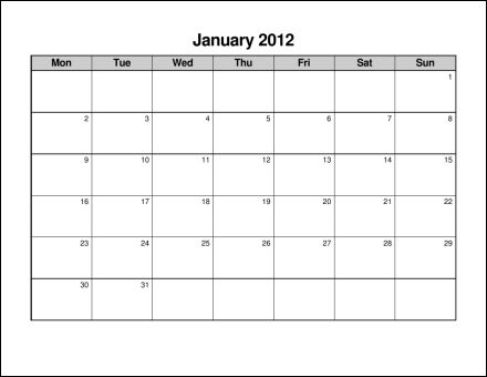 Print 2012 Calendar  Twelve Pages (Monthly)  Ask the eConsultant