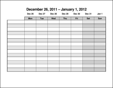 monday to sunday schedule template - 28 images - calendar schedule - monday to sunday schedule template