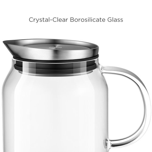 Particular Cork Lid Glass Pitcher Premium Material Ecooe Oz Glass Water Pitcher Lid India Filter Lid Glass Pitcher
