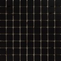 Tile Mosaic French Porcelain  Black ~ Eco Tile Factory