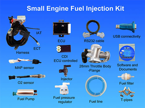 110cc Engine Wiring Diagram Electric Motorcycle Small Engine Fuel Injection Kits For Turbo Charger