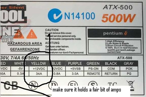 Pc power supply powering car amplifier in home - ecoustics