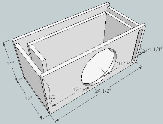 8 Subwoofer Box Dimensions Pictures To Pin On Pinterest