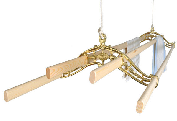 Brass Classic Kitchen Maid Clothes Airer Eco Washing Lines