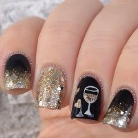 100 Cute And Easy Glitter Nail Designs Ideas To Rock This ...