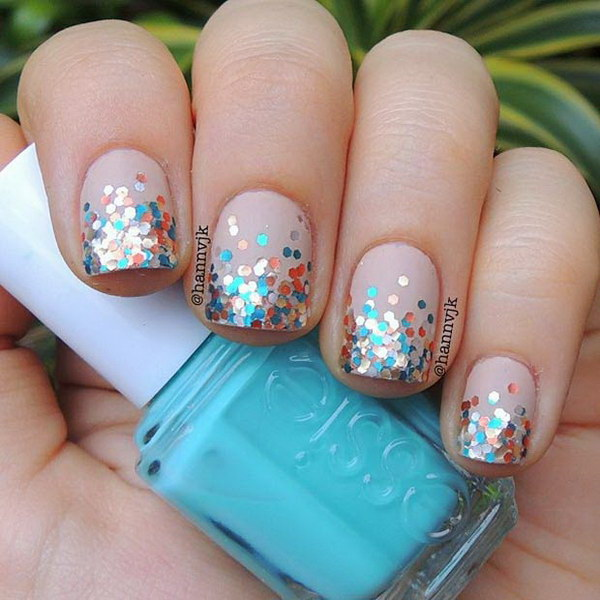 Glitter Nail Art Designs: 100 Cute And Easy Glitter Nail Designs Ideas To Rock This