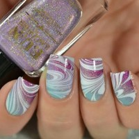 40 Awesome Water Marble Nail Art Designs You'll Want To ...