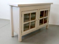 Reclaimed Wood Media Cabinet With Glass Doors ...
