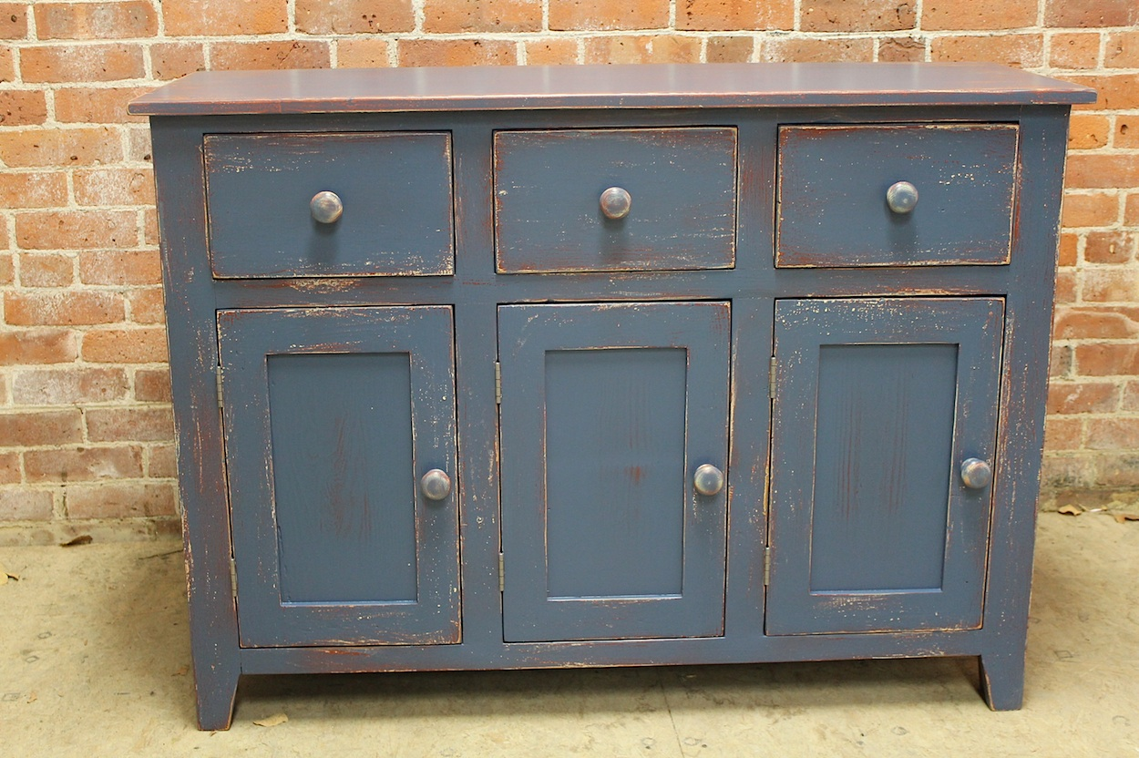 Rustic Painted Server Cabinet Ecustomfinishes